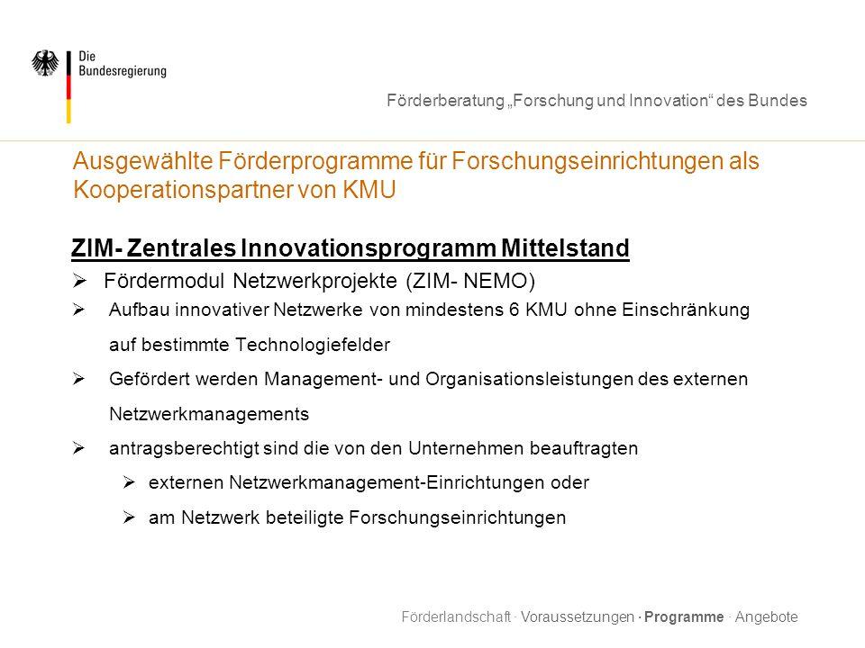 ZIM- Zentrales Innovationsprogramm Mittelstand