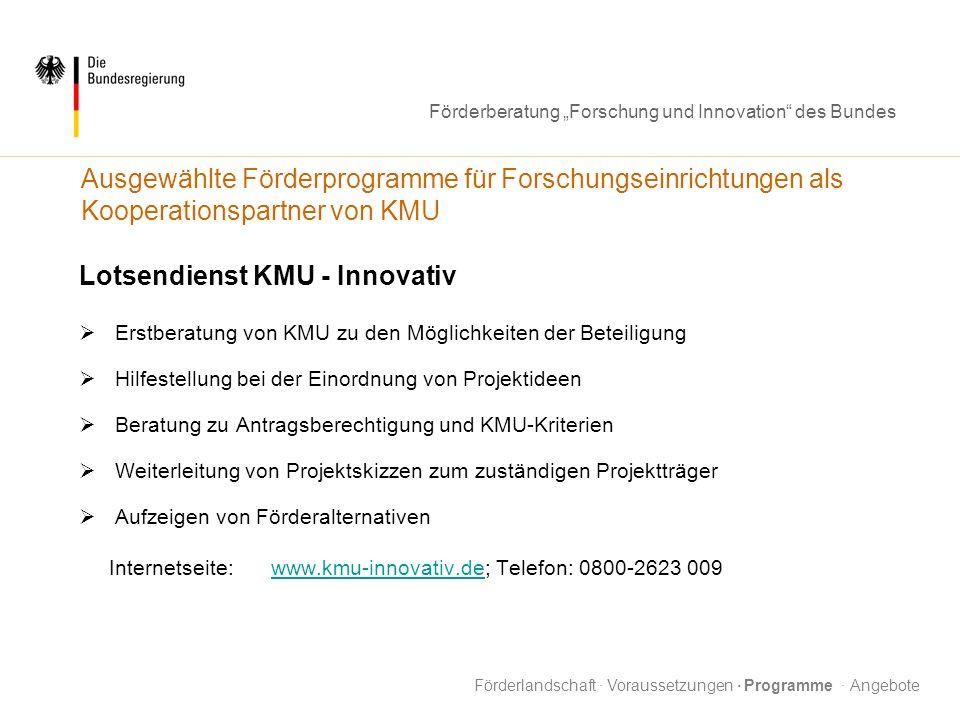 Lotsendienst KMU - Innovativ