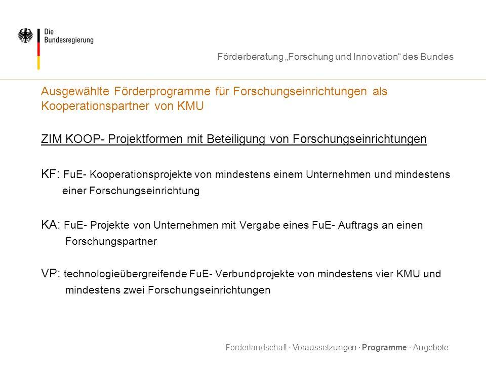 ZIM KOOP- Projektformen mit Beteiligung von Forschungseinrichtungen