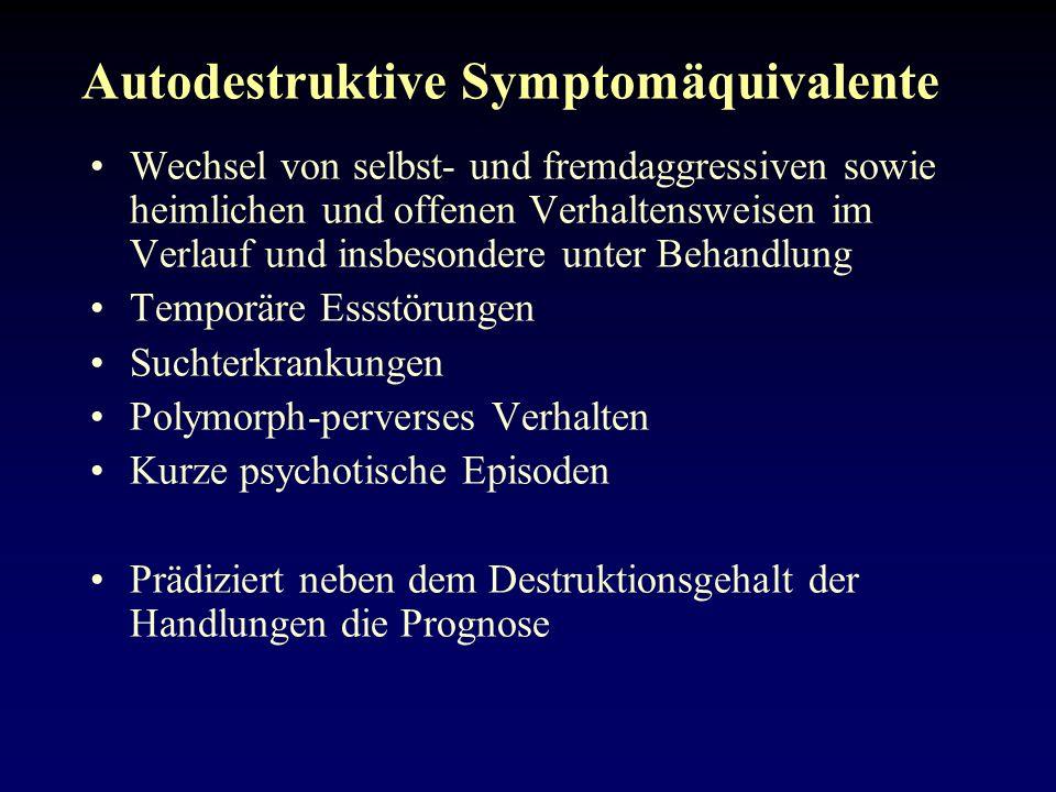 Autodestruktive Symptomäquivalente