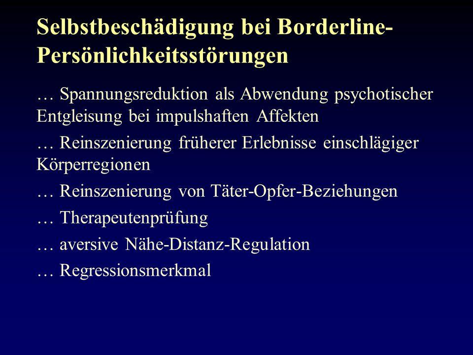 Selbstbeschädigung bei Borderline-Persönlichkeitsstörungen