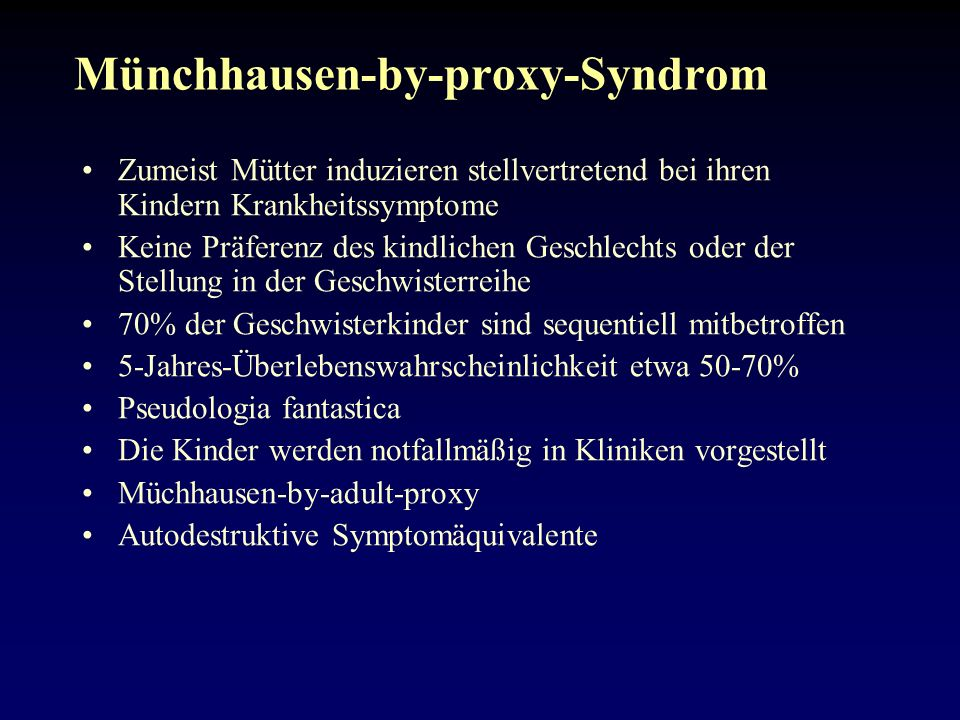 Münchhausen-by-proxy-Syndrom