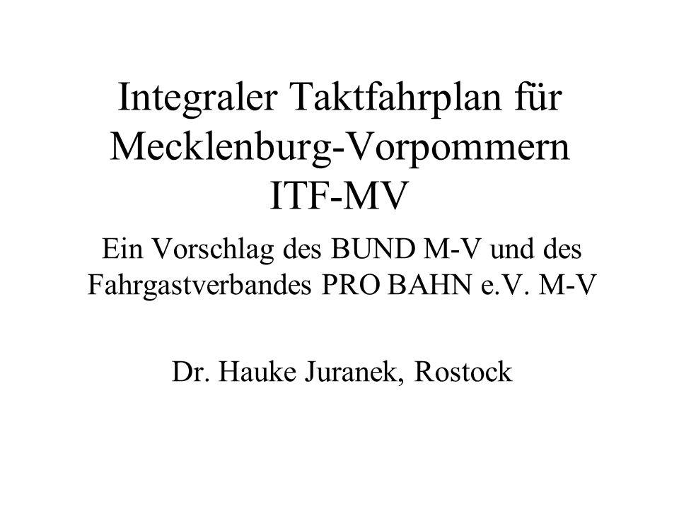 Integraler Taktfahrplan für Mecklenburg-Vorpommern ITF-MV