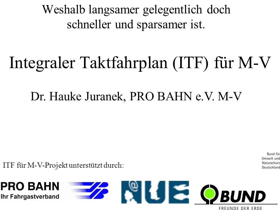 Integraler Taktfahrplan (ITF) für M-V