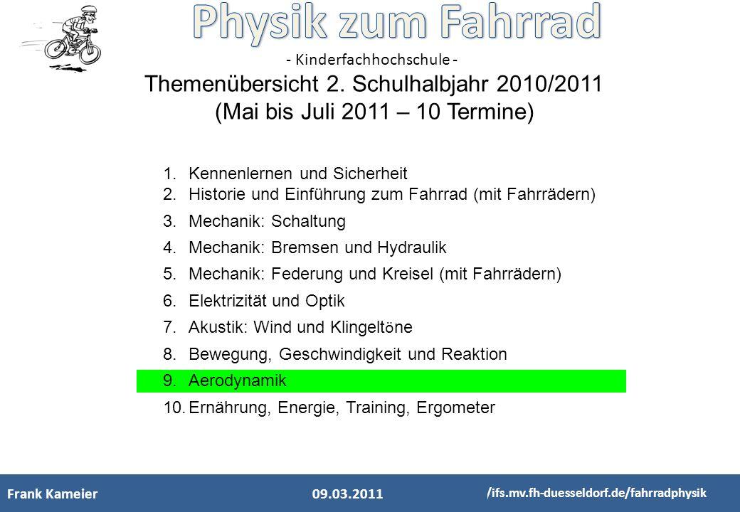 Themenübersicht 2. Schulhalbjahr 2010/2011