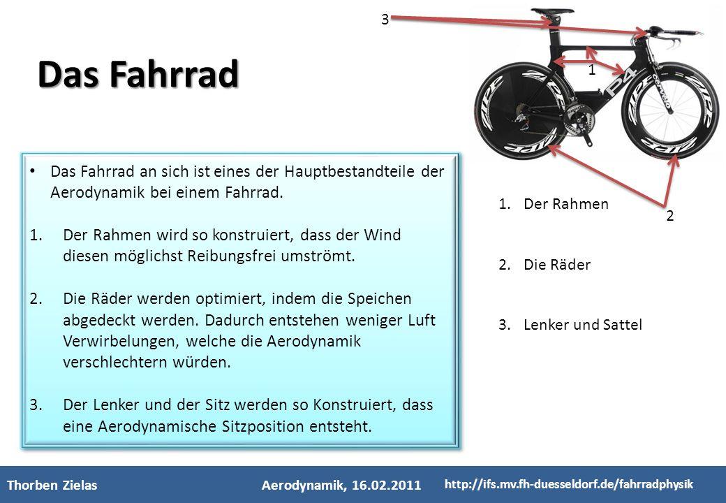 3 Das Fahrrad. 1. Das Fahrrad an sich ist eines der Hauptbestandteile der Aerodynamik bei einem Fahrrad.