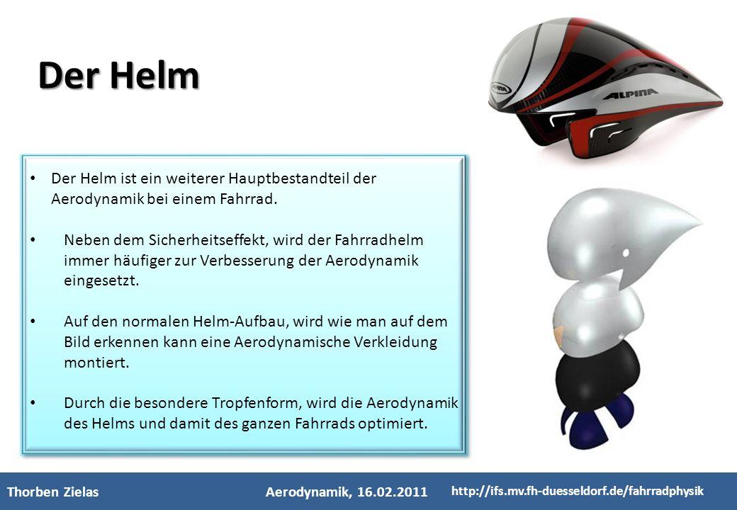 3 Der Helm. 1. 2. Der Helm ist ein weiterer Hauptbestandteil der Aerodynamik bei einem Fahrrad.