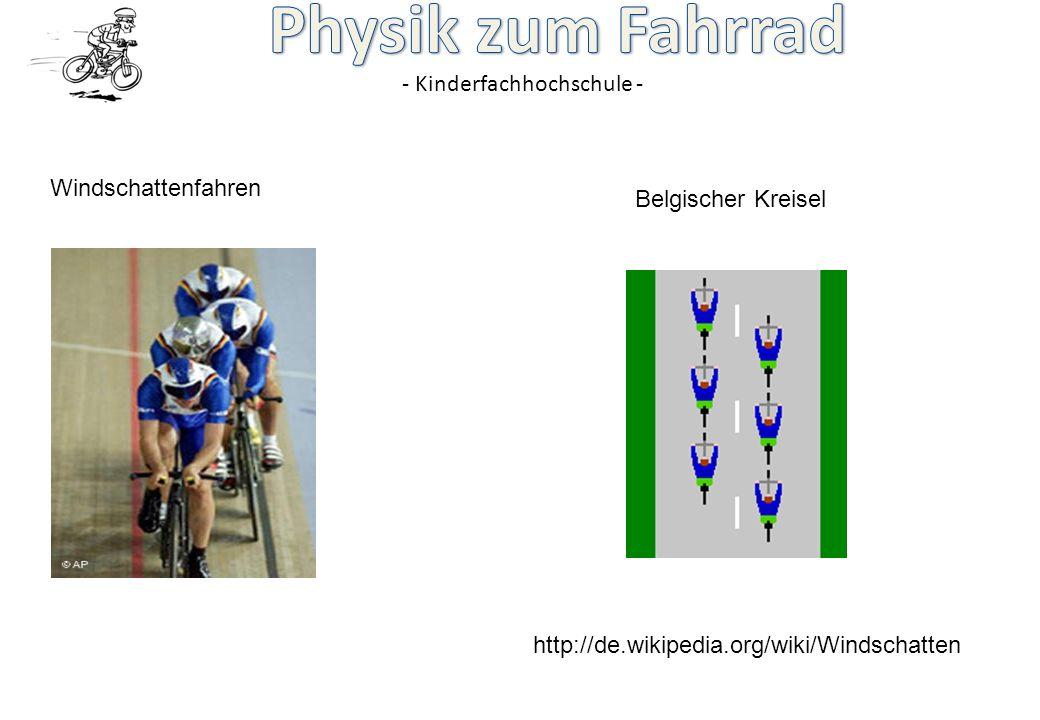 Windschattenfahren Belgischer Kreisel http://de.wikipedia.org/wiki/Windschatten