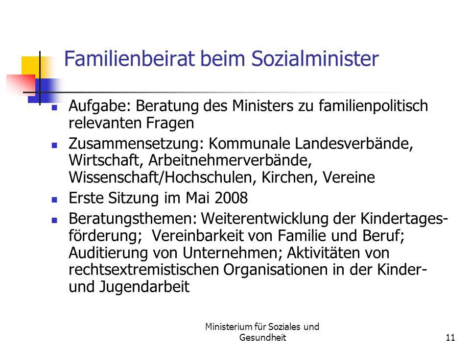 Familienbeirat beim Sozialminister