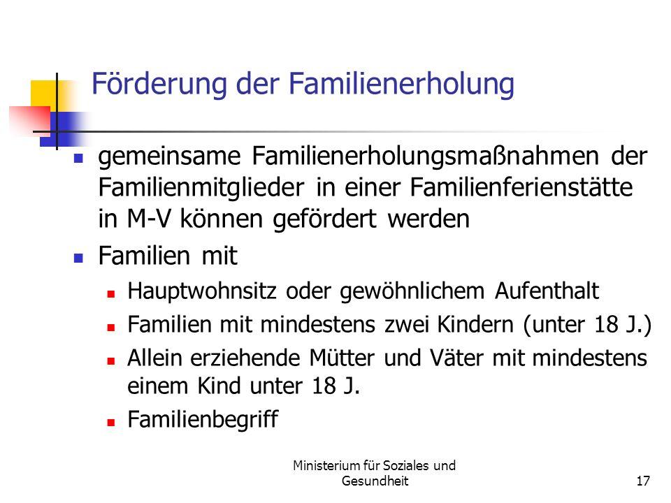 Förderung der Familienerholung