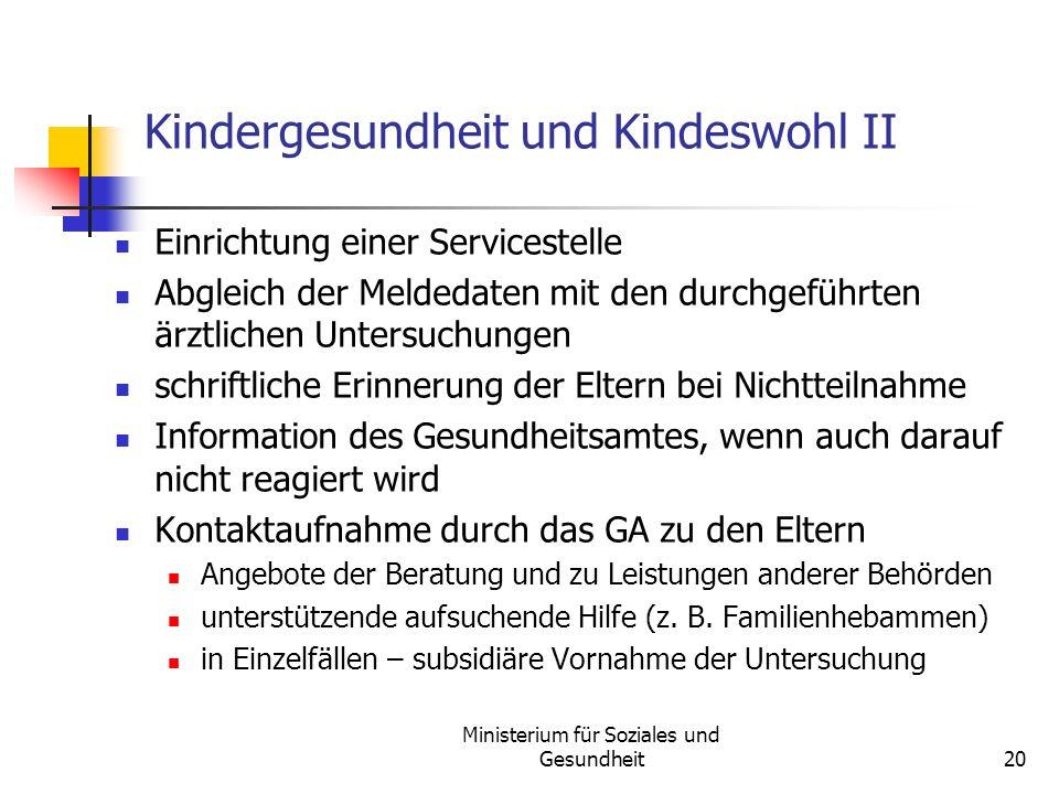 Kindergesundheit und Kindeswohl II