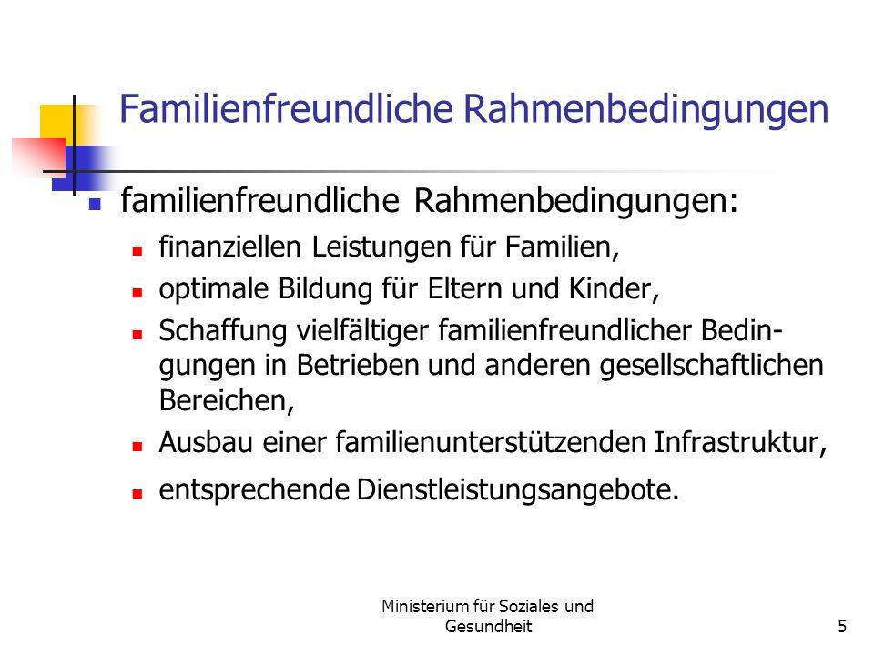 Familienfreundliche Rahmenbedingungen
