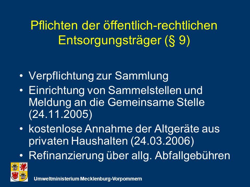 Pflichten der öffentlich-rechtlichen Entsorgungsträger (§ 9)