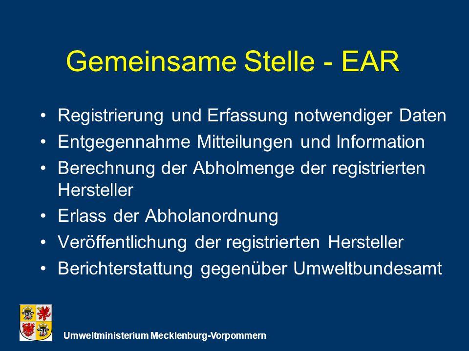 Gemeinsame Stelle - EAR