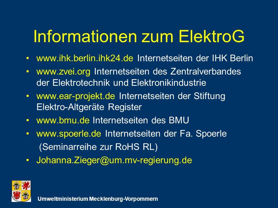 Informationen zum ElektroG
