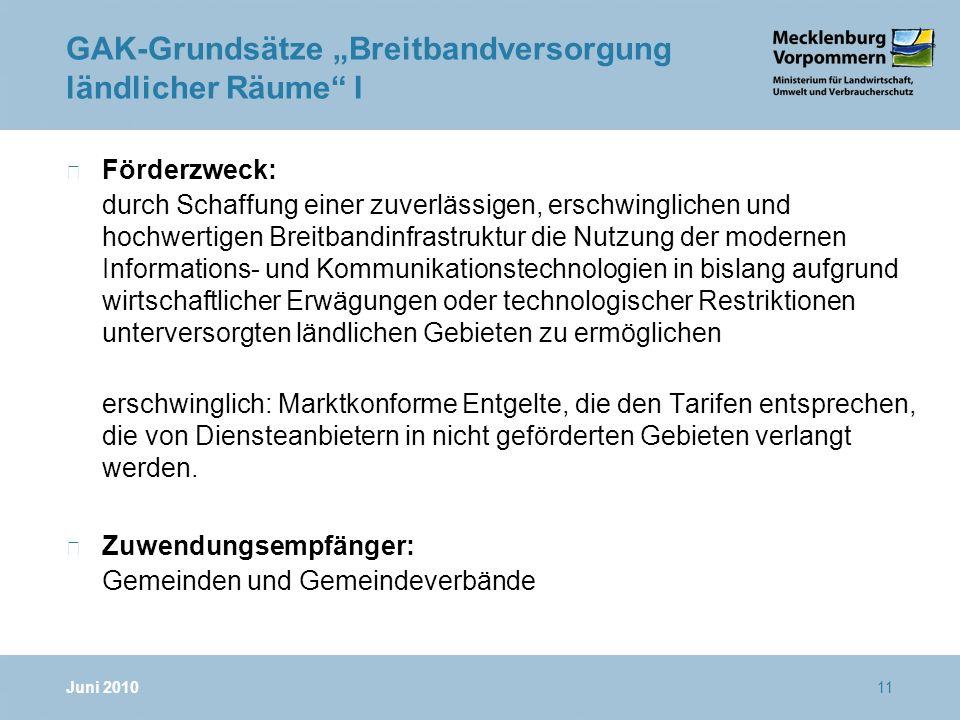 """GAK-Grundsätze """"Breitbandversorgung ländlicher Räume I"""
