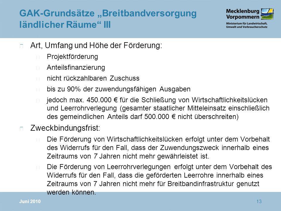 """GAK-Grundsätze """"Breitbandversorgung ländlicher Räume III"""
