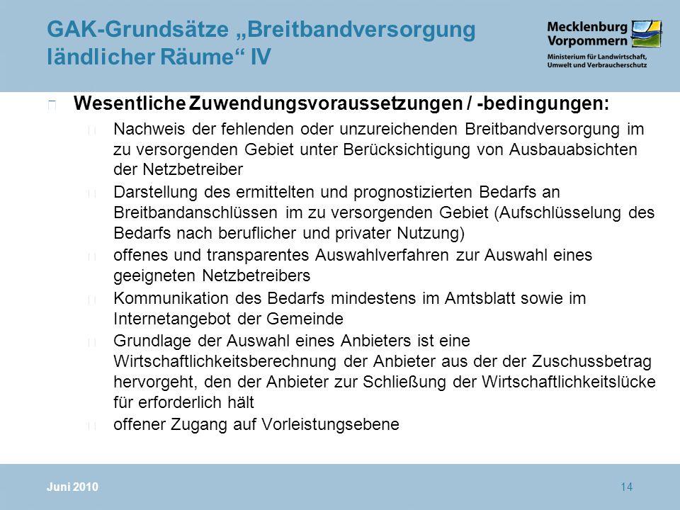"""GAK-Grundsätze """"Breitbandversorgung ländlicher Räume IV"""