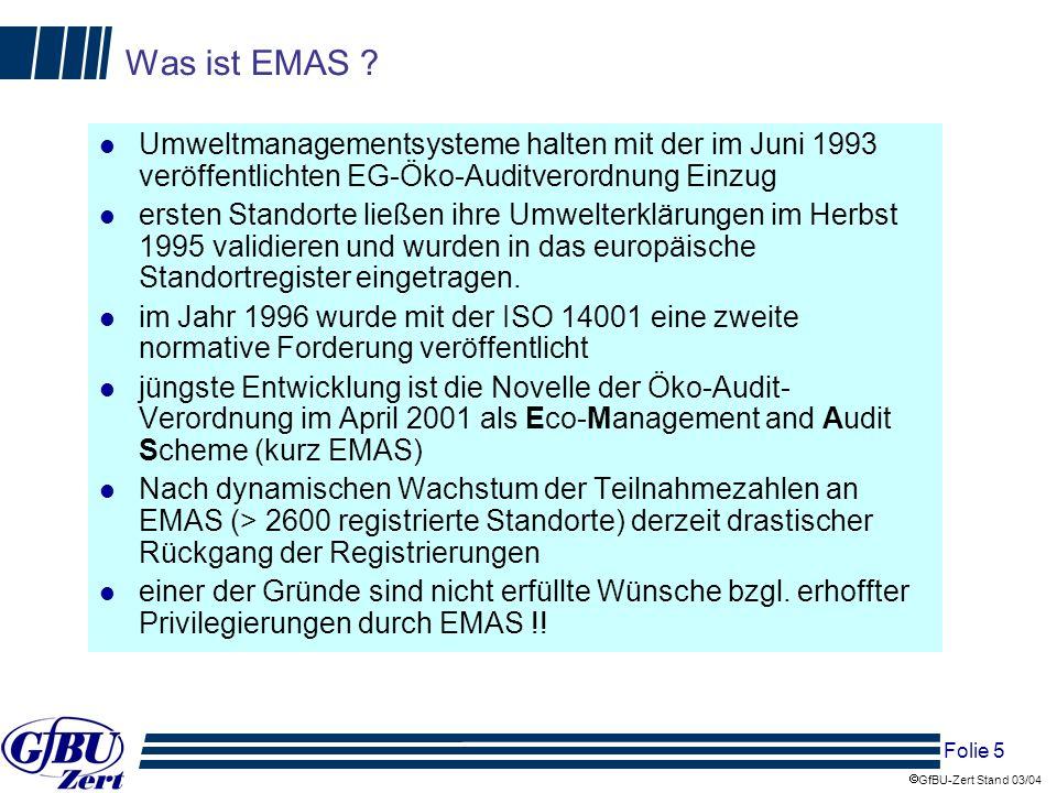 Was ist EMAS Umweltmanagementsysteme halten mit der im Juni 1993 veröffentlichten EG-Öko-Auditverordnung Einzug.