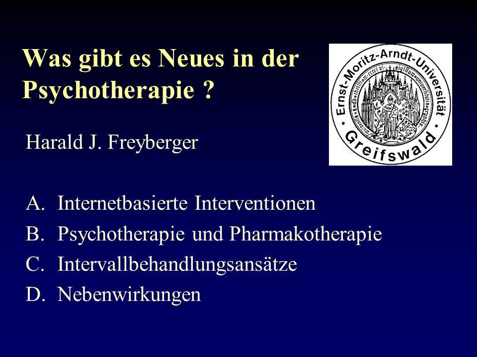 Was gibt es Neues in der Psychotherapie