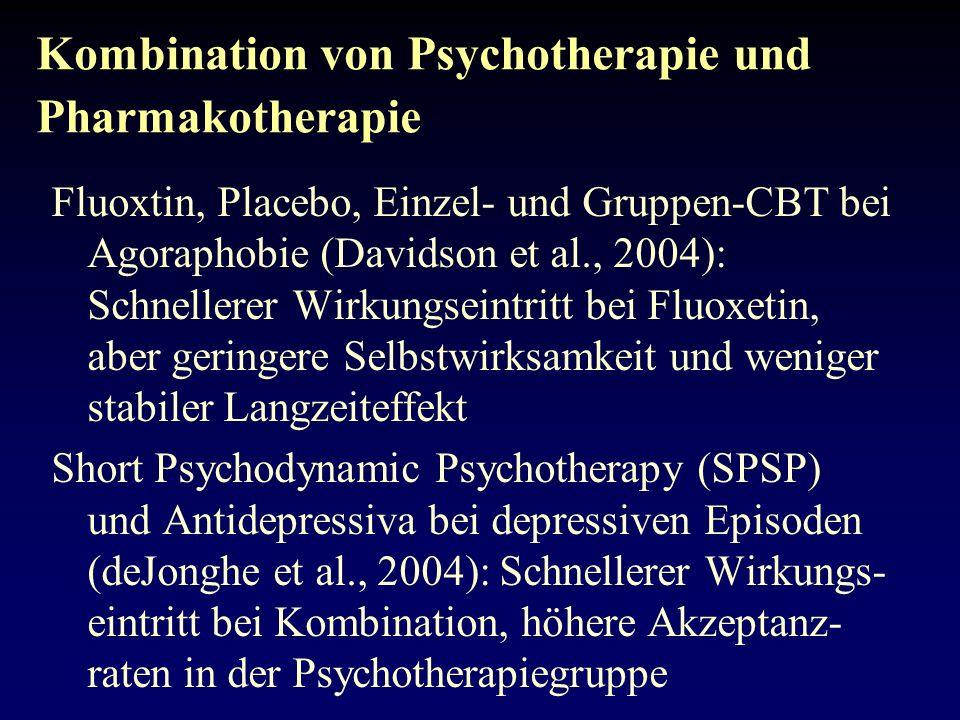 Kombination von Psychotherapie und Pharmakotherapie