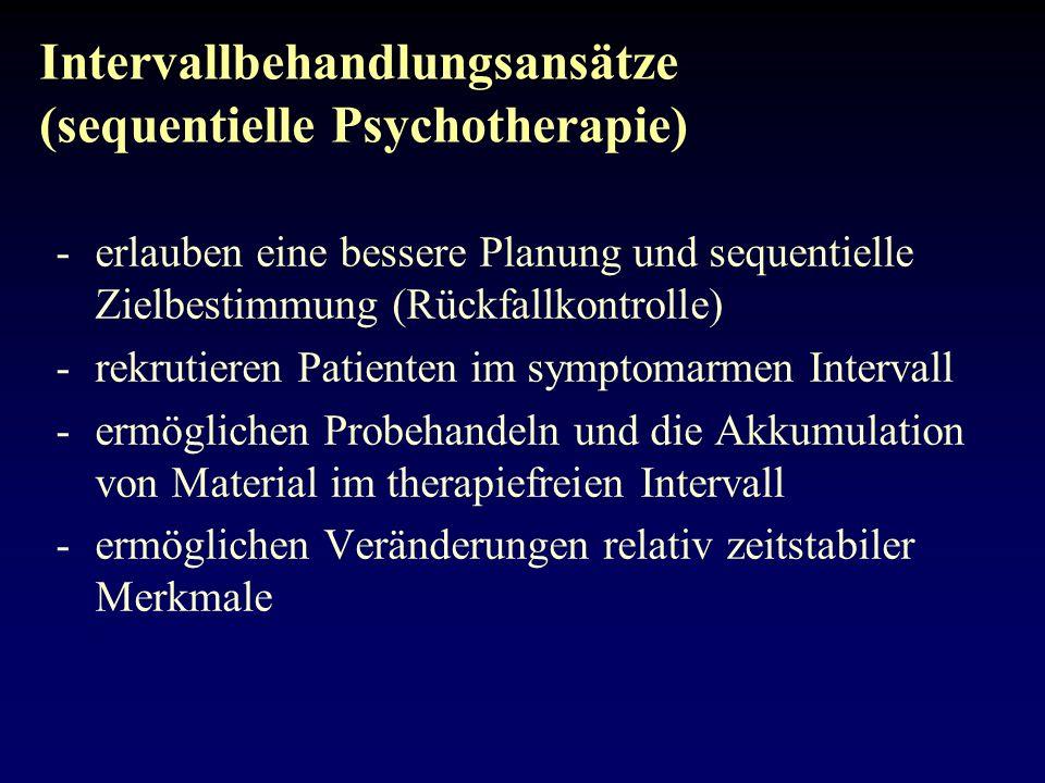 Intervallbehandlungsansätze (sequentielle Psychotherapie)
