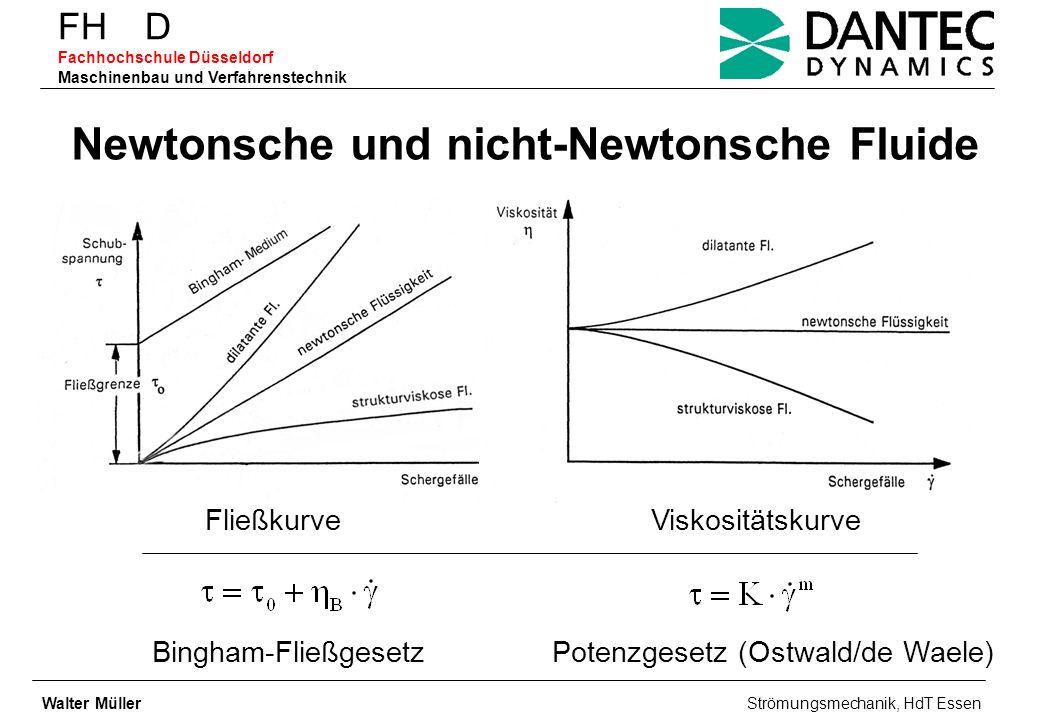 Newtonsche und nicht-Newtonsche Fluide