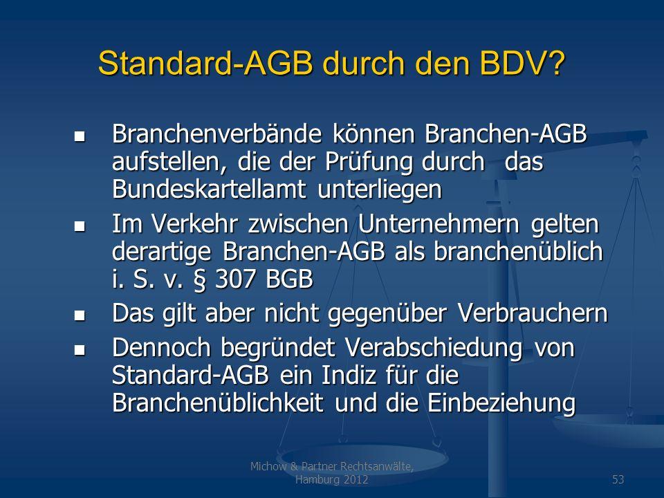 Standard-AGB durch den BDV