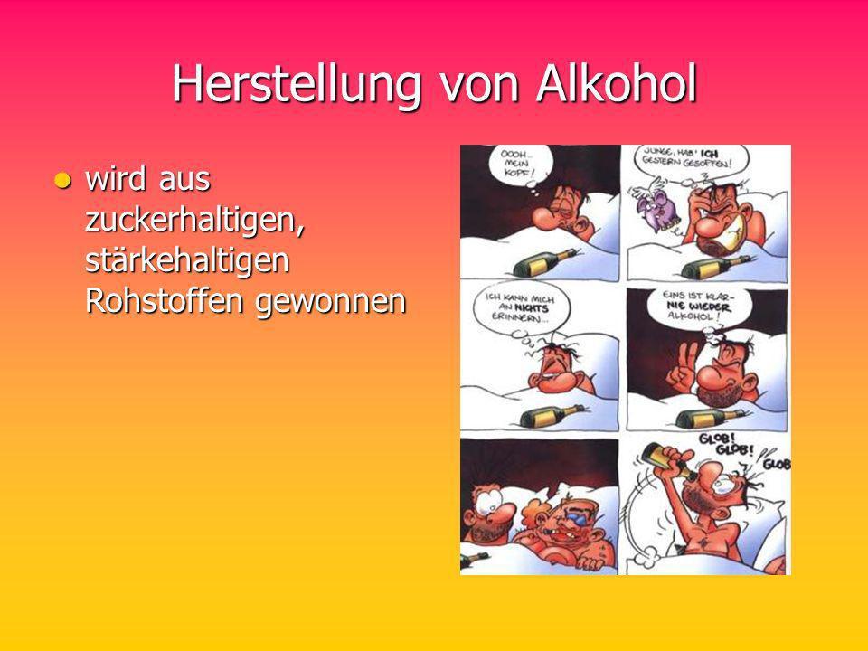 Herstellung von Alkohol