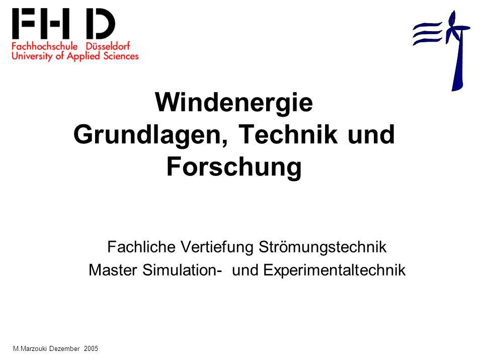 Windenergie Grundlagen, Technik und Forschung