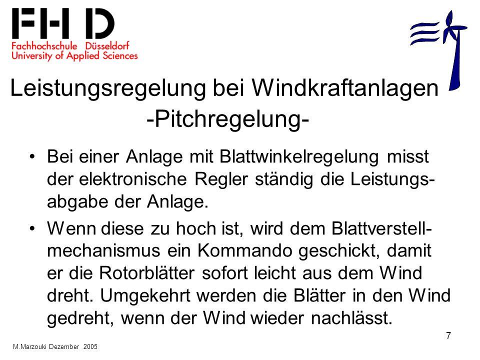Leistungsregelung bei Windkraftanlagen -Pitchregelung-