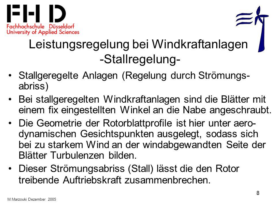 Leistungsregelung bei Windkraftanlagen -Stallregelung-