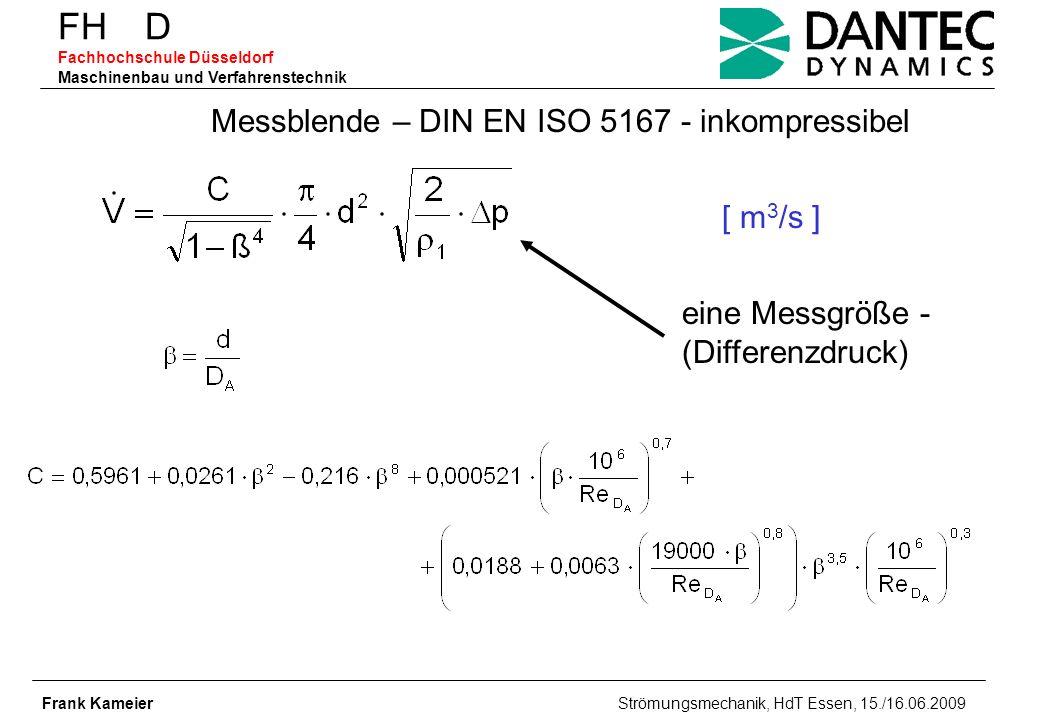 Messblende – DIN EN ISO 5167 - inkompressibel