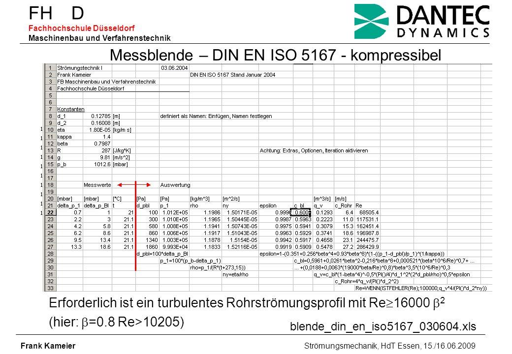Messblende – DIN EN ISO 5167 - kompressibel