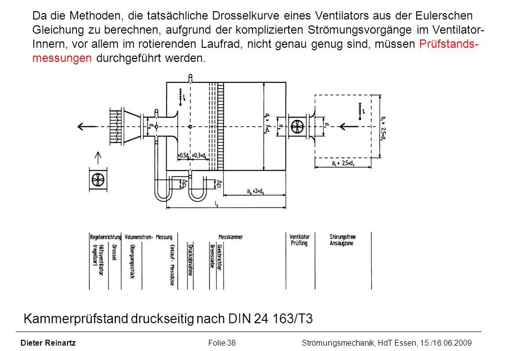 Kammerprüfstand druckseitig nach DIN 24 163/T3