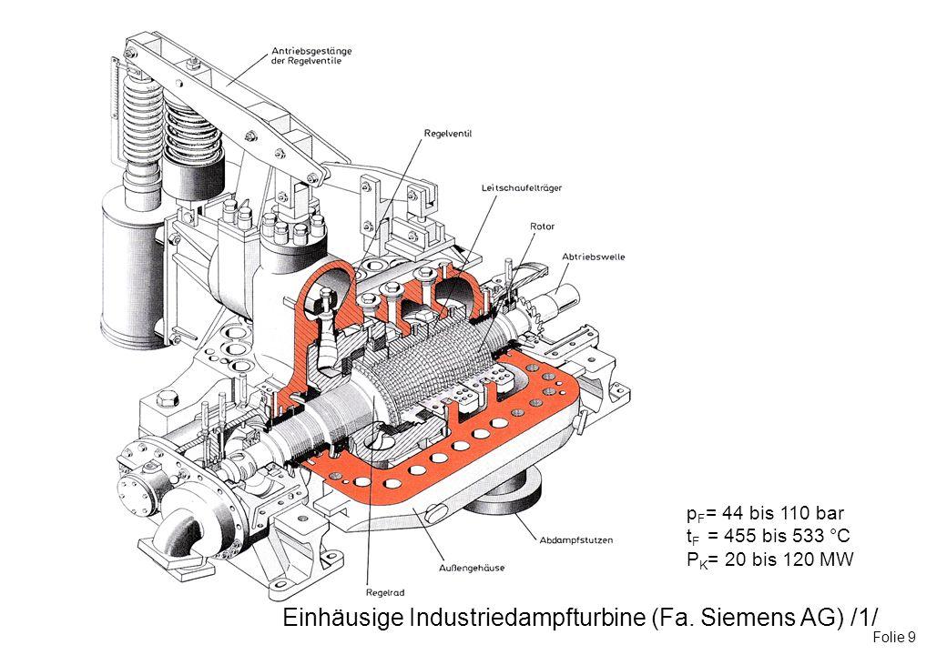 Einhäusige Industriedampfturbine (Fa. Siemens AG) /1/