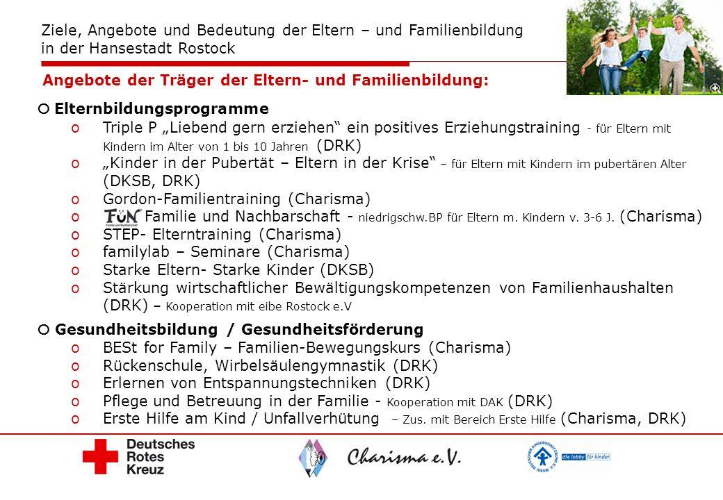 Angebote der Träger der Eltern- und Familienbildung: