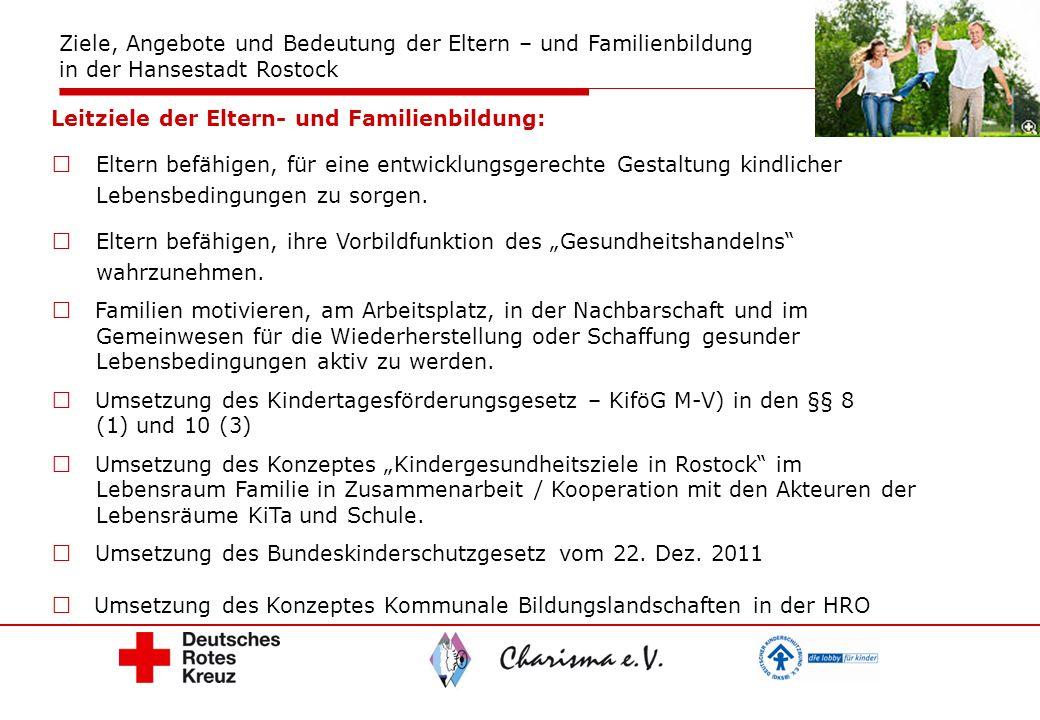 Ziele, Angebote und Bedeutung der Eltern – und Familienbildung in der Hansestadt Rostock