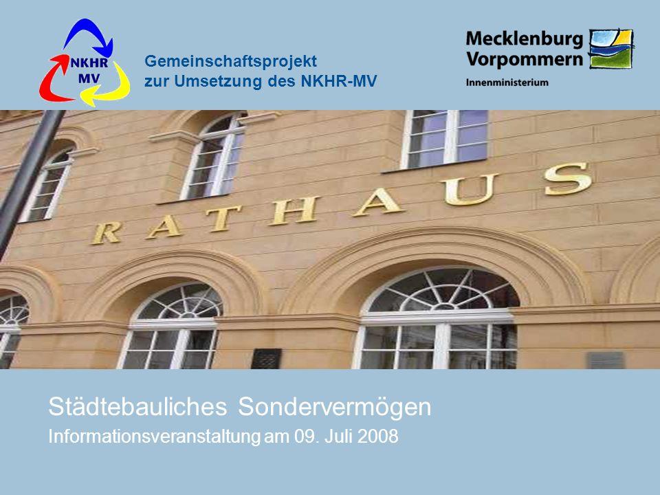 Städtebauliches Sondervermögen Informationsveranstaltung am 09