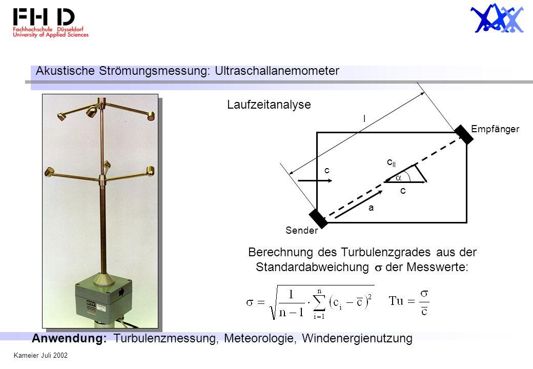 Akustische Strömungsmessung: Ultraschallanemometer
