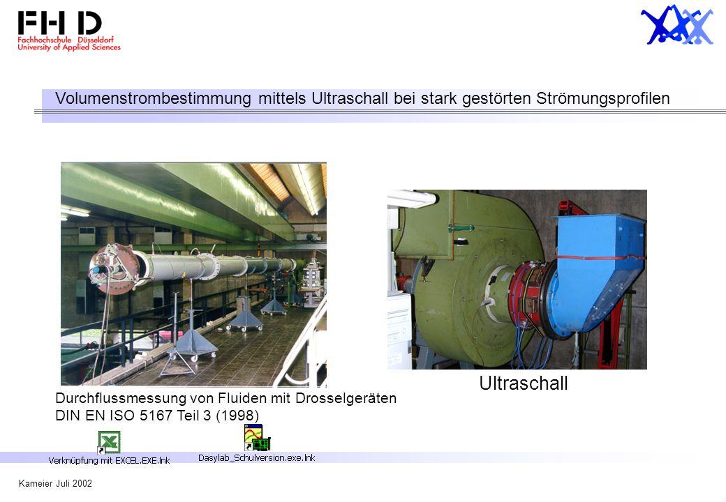 Volumenstrombestimmung mittels Ultraschall bei stark gestörten Strömungsprofilen