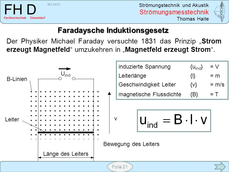 Faradaysche Induktionsgesetz