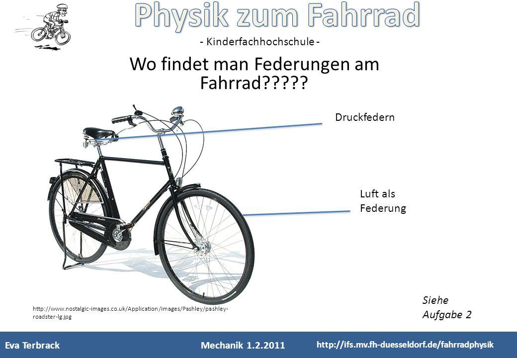 Wo findet man Federungen am Fahrrad