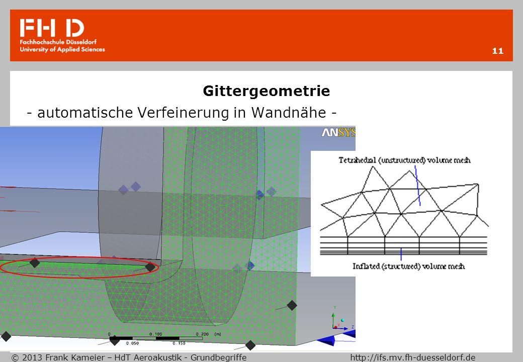 Gittergeometrie - automatische Verfeinerung in Wandnähe -