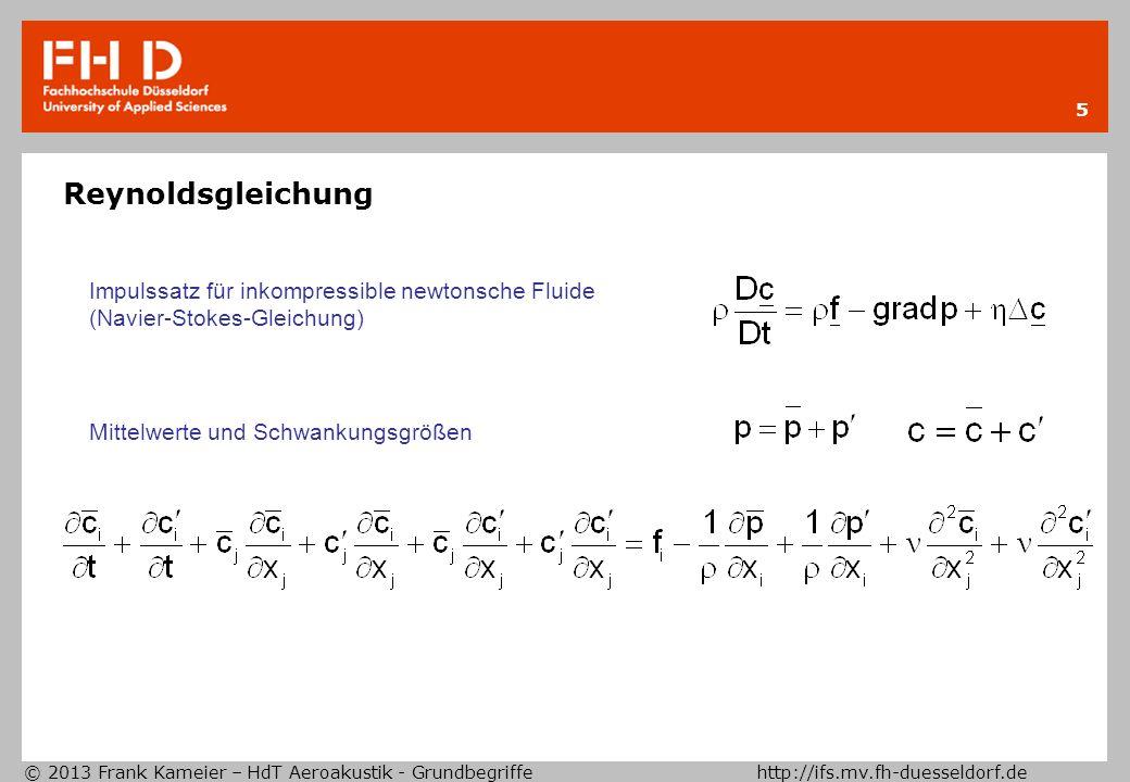 Reynoldsgleichung Impulssatz für inkompressible newtonsche Fluide