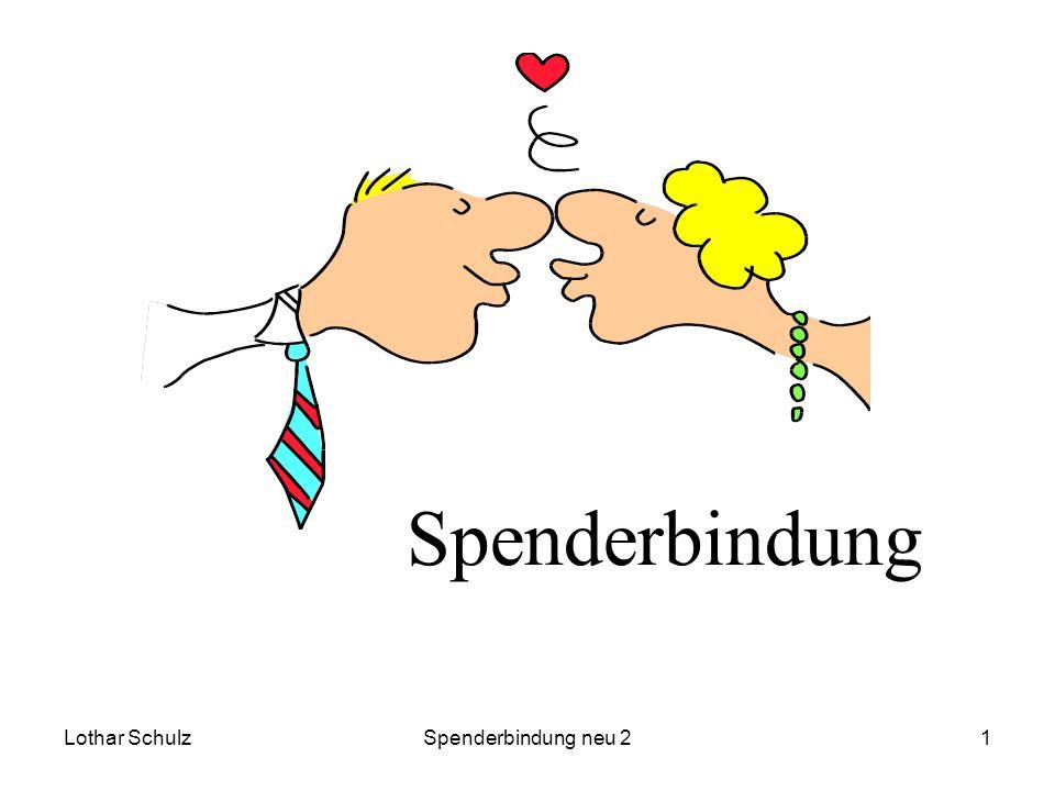 Spenderbindung Lothar Schulz Spenderbindung neu 2