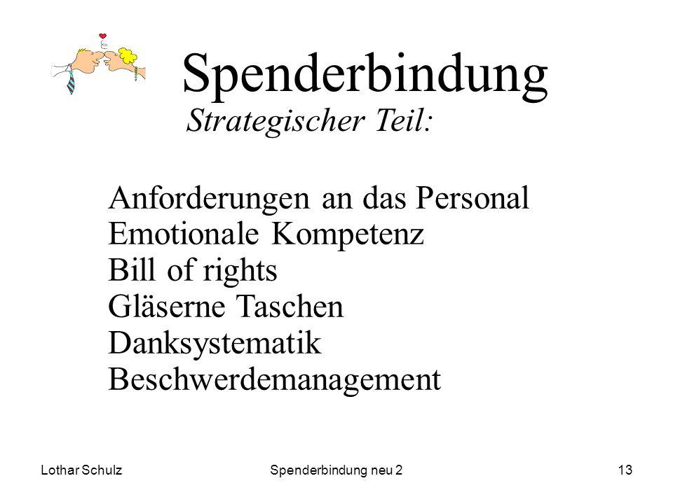 Spenderbindung Strategischer Teil: Anforderungen an das Personal