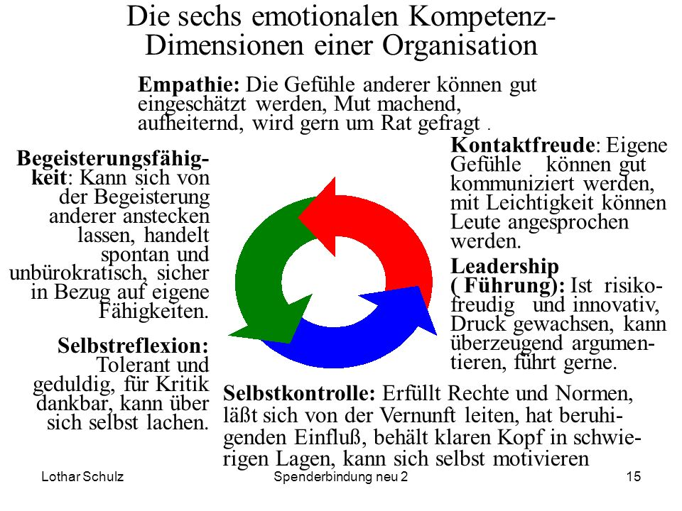 Die sechs emotionalen Kompetenz-Dimensionen einer Organisation
