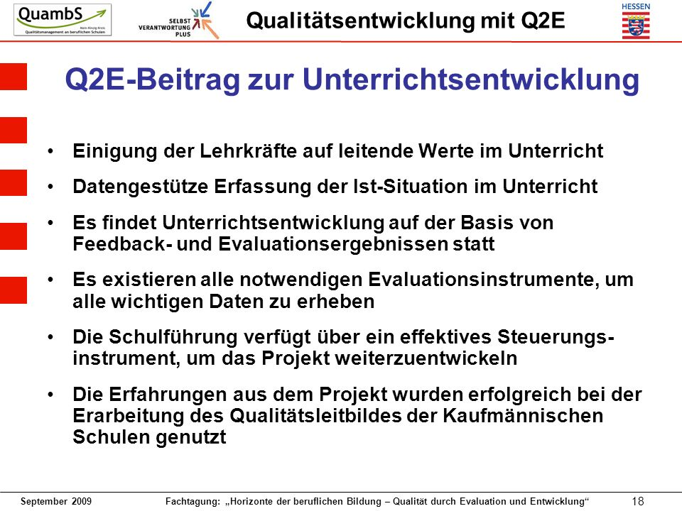 Q2E-Beitrag zur Unterrichtsentwicklung
