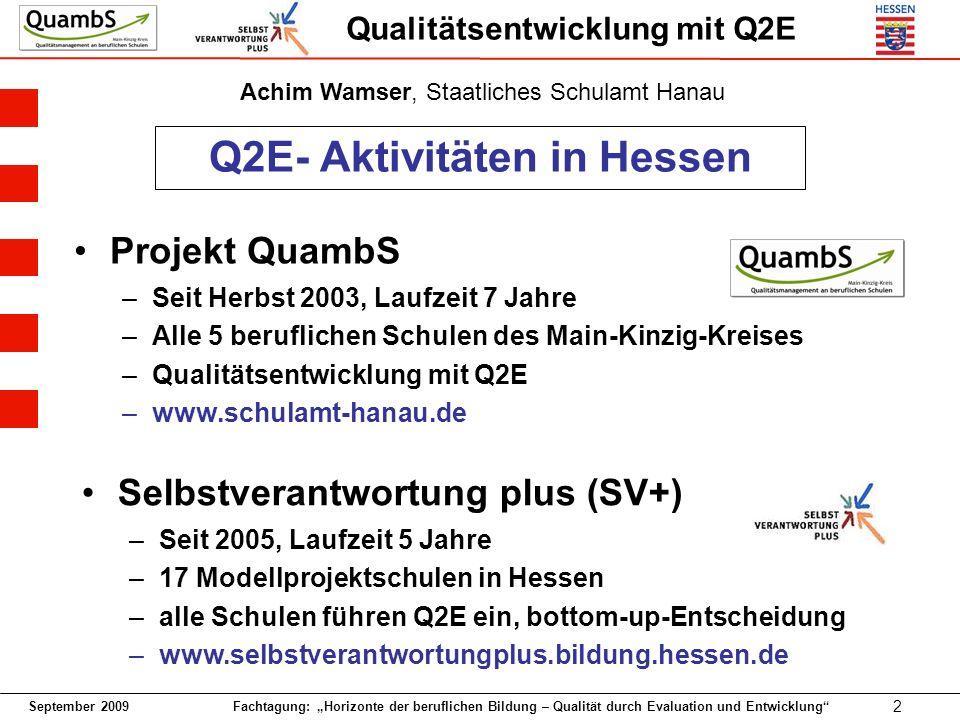 Q2E- Aktivitäten in Hessen